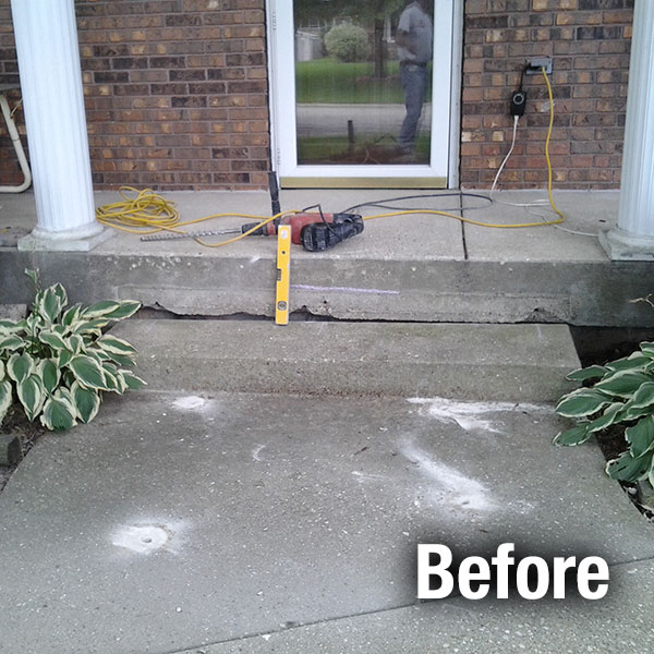 Kansas City Concrete Step Repair - Before